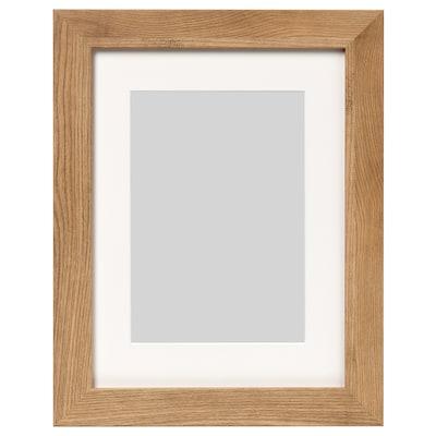 DALSKÄRR Rám, dřevěný efekt/světle hnědá, 30x40 cm