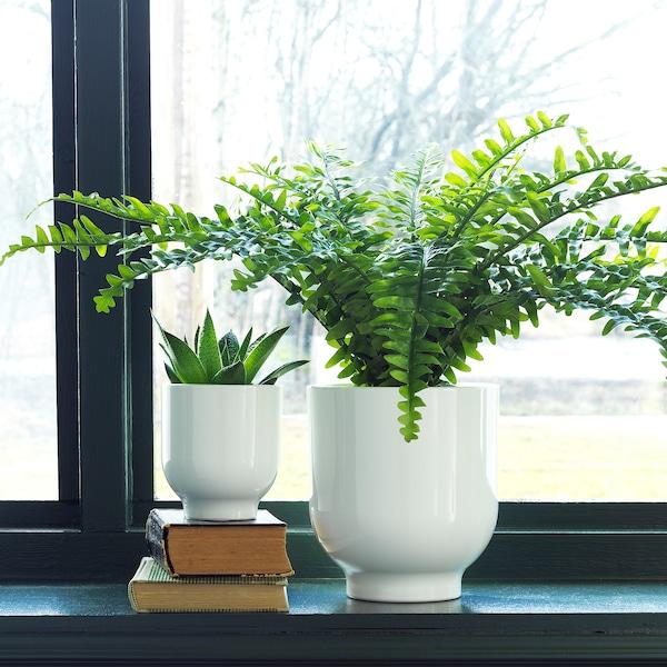 DRÖMSK Květináč, bílá, 9 cm