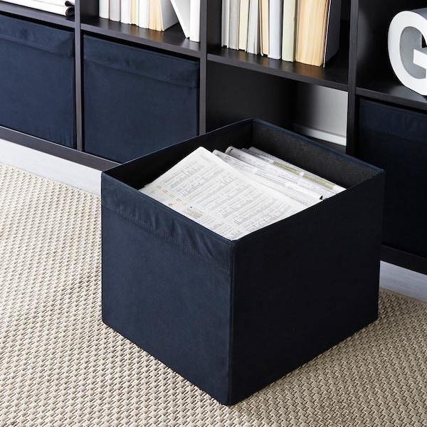 DRÖNA Krabice, černá, 33x38x33 cm
