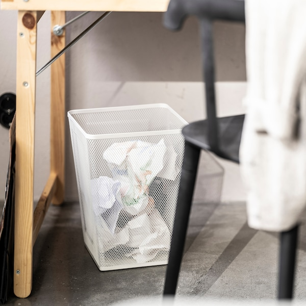 DRÖNJÖNS Odpadkový koš, bílá