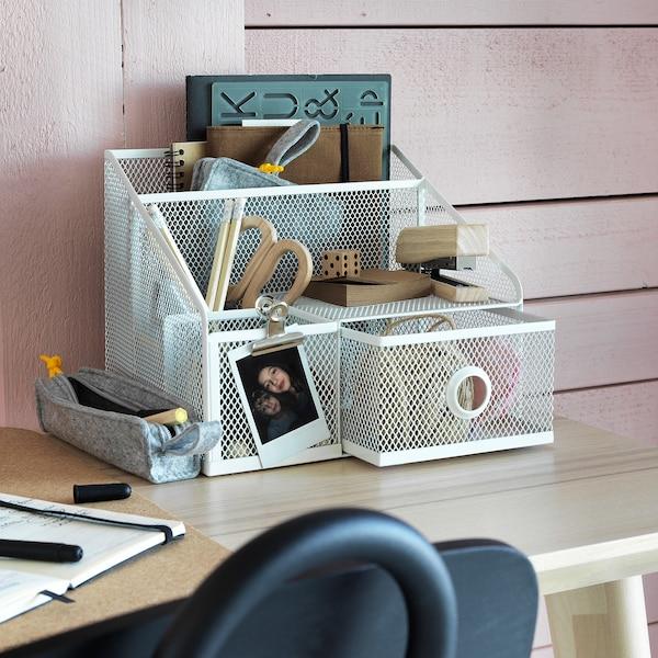 DRÖNJÖNS Stojan na kancelářské potřeby, bílá, 25x20 cm