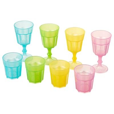 DUKTIG sklenice barevná 8 ks