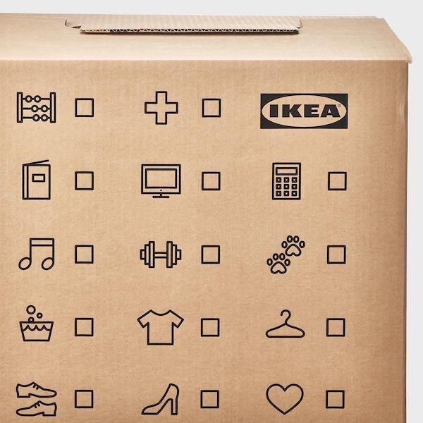 DUNDERGUBBE Krabice na stěhování, hnědá, 50x31x40 cm