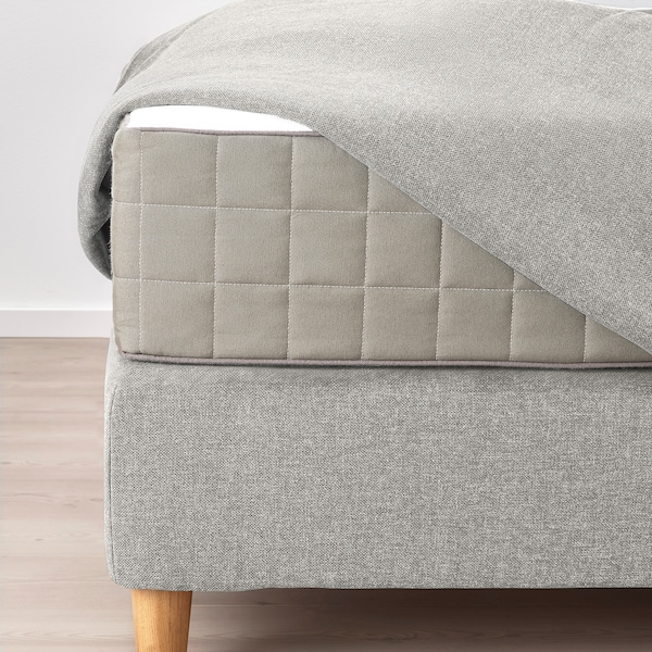 DUNVIK čalouněná postel Hövåg tvrdá/Tustna Gunnared, béžový 210 cm 180 cm 120 cm 200 cm 180 cm