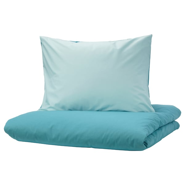 DVALA povlečení na jednolůžko modrá 152 Palec²  1 ks 200 cm 150 cm 50 cm 60 cm