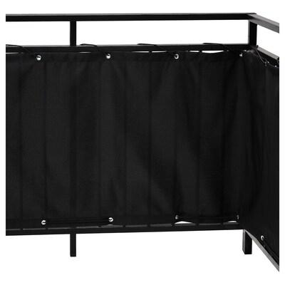 DYNING Balkonová zástěna, černá, 250x80 cm