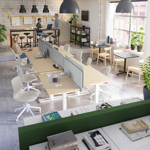 EILIF Zástěna ke stolu, šedá, 160x48 cm