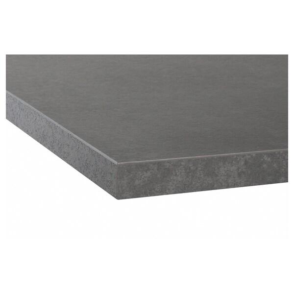 EKBACKEN pracovní deska imitace betonu/laminát 246 cm 63.5 cm 2.8 cm