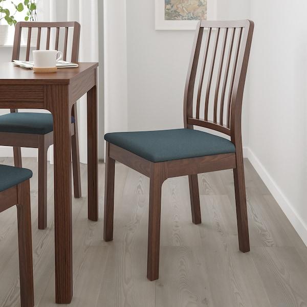 EKEDALEN židle hnědá/Idekulla modrá 110 kg 43 cm 51 cm 95 cm 43 cm 41 cm 46 cm