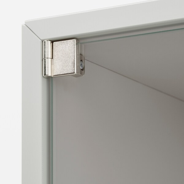 EKET Nást.skříňka/skleněné dveře, světle šedá, 35x25x35 cm