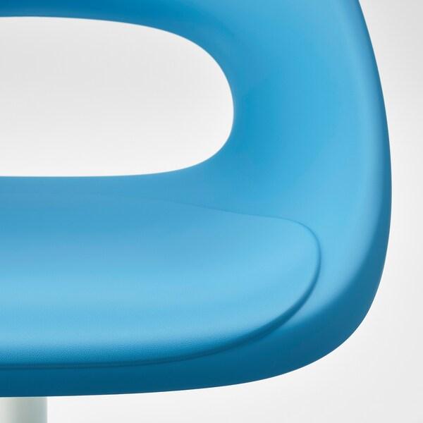 ELDBERGET / BLYSKÄR Otočná židle, modrá/bílá