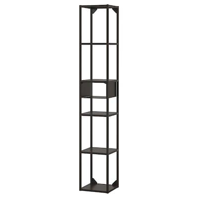 ENHET Nástěnná úložná sestava, antracit, 30x30x180 cm