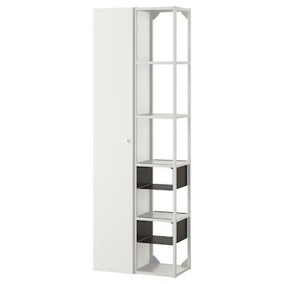 ENHET Nástěnná úložná sestava, bílá, 60x30x180 cm