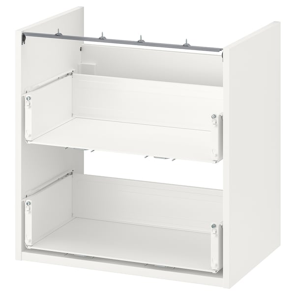 ENHET Spod. skříňka na umyvadlo, 2 zás., bílá, 60x40x60 cm