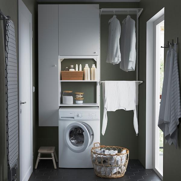 ENHET Úložná sestava na praní, bílá, 90x32x180 cm
