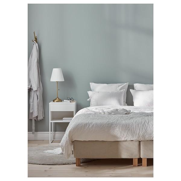 ESPEVÄR Čalouněná postel, Mausund střední tvrdost/přírodní, 160x200 cm