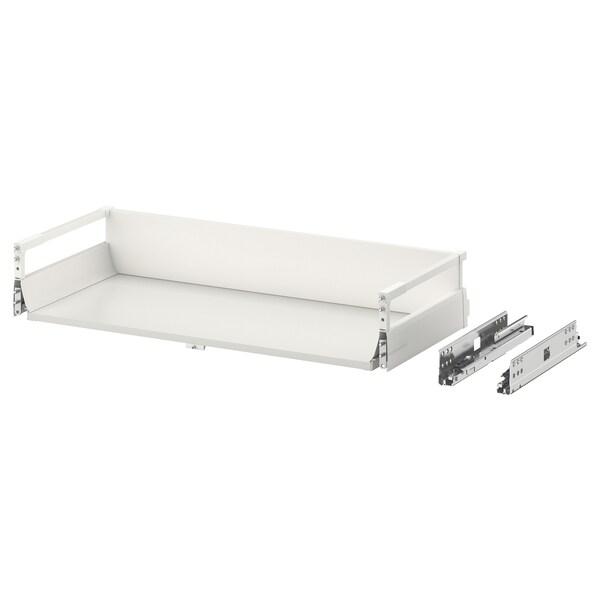 EXCEPTIONELL Střední zásuvka s otev. mechanismem, bílá, 80x37 cm