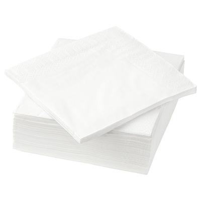 FANTASTISK Papírové ubrousky, bílá, 24x24 cm