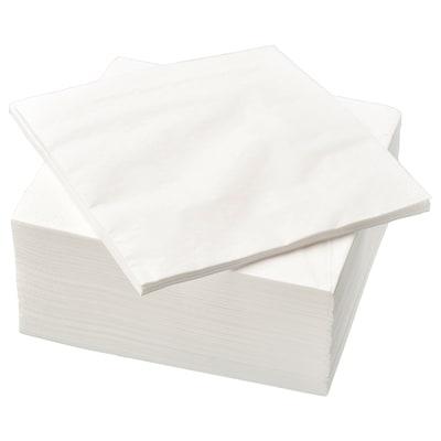 FANTASTISK Papírové ubrousky, bílá, 40x40 cm