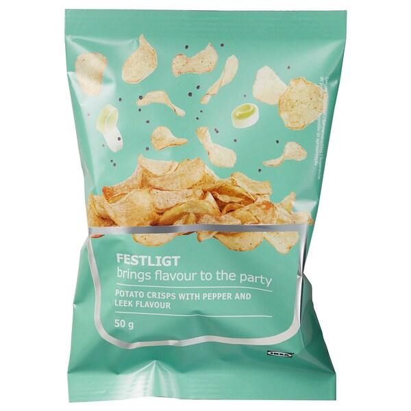 FESTLIGT Chipsy, pepř pórek, 50 g