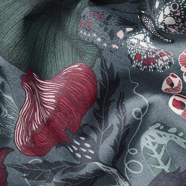 FILODENDRON Látka, tm.modrá/květinový vzor, 150 cm