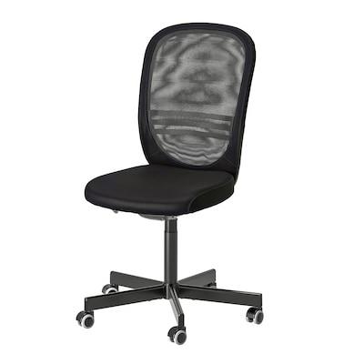 FLINTAN Kancelářská židle, černá