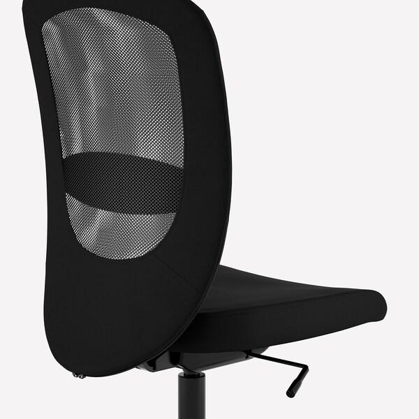 FLINTAN Kancelářská židle, Vissle černá