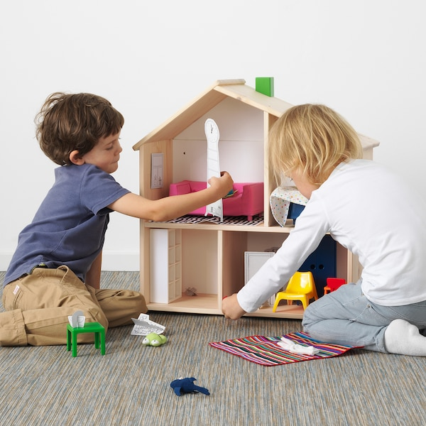 FLISAT domeček pro panenky/nástěnná police 58 cm 22 cm 59 cm
