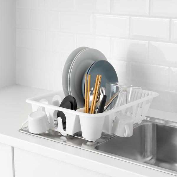 FLUNDRA Odkapávač na nádobí, bílá