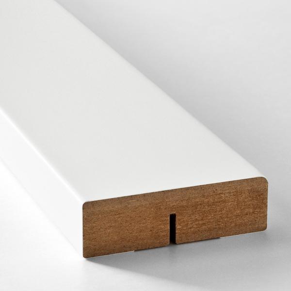 FÖRBÄTTRA Kulatá deko lišta, matně bílá, 221 cm