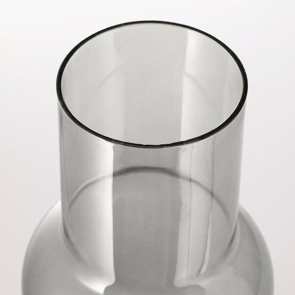 FÖRENLIG Váza, světle šedá, 21 cm