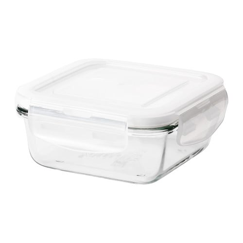 FÖRTROLIG Dóza na potraviny IKEA Vzduchutěsné víko zajišťuje delší uchování čerstvých potravin v dóze.