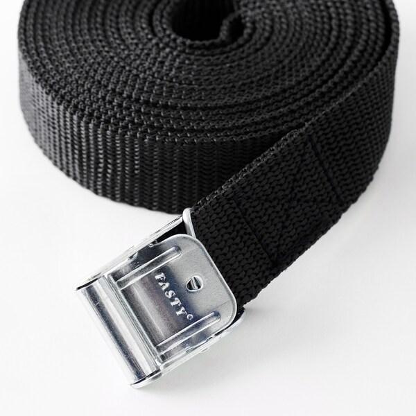 FRAKTA Popruh na zavazadla, černá, 3.5 m 2 ks