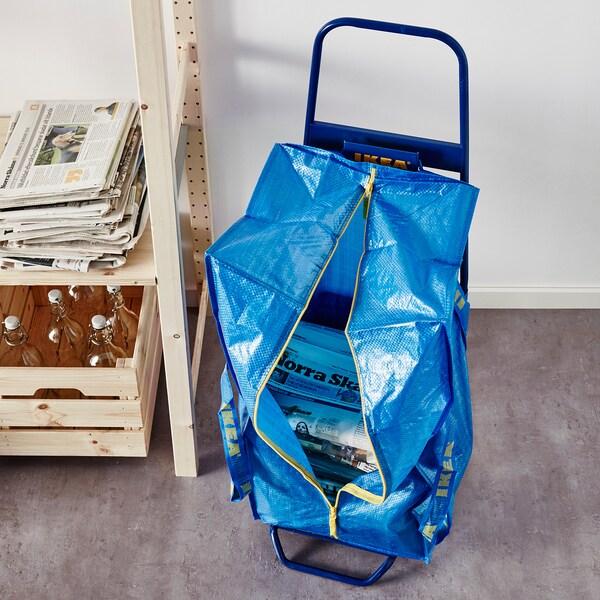 FRAKTA Vozík s taškou, modrá