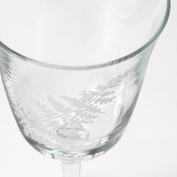 FRAMTRÄDA Sklenka na víno, čiré sklo/kapradina, 30 cl