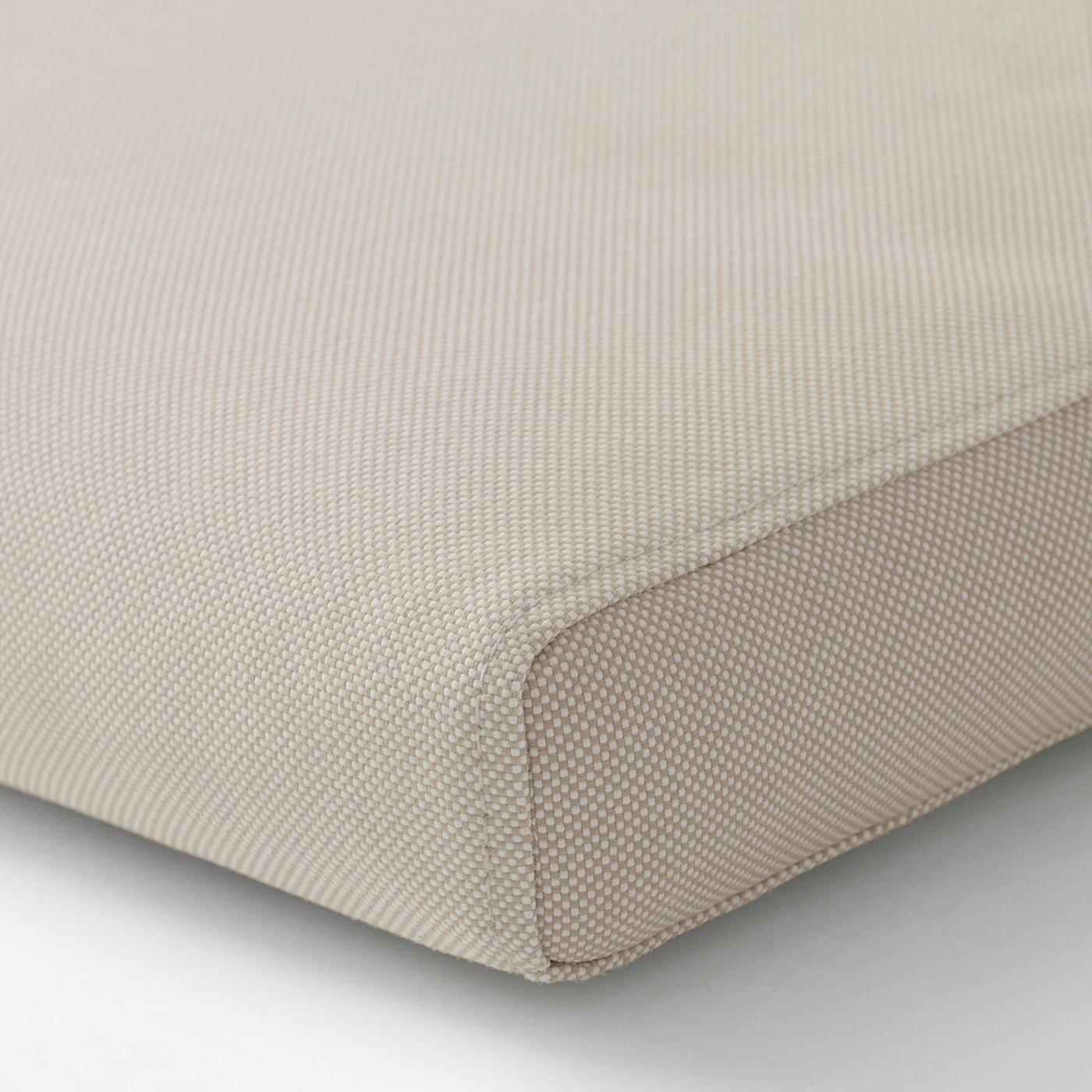 FRÖSÖN/DUVHOLMEN Sedák s opěrkou, venkovní, béžová, 116x45 cm