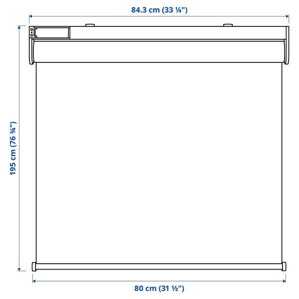 FYRTUR Zatemňovací roleta, bezdrátová/na baterie šedá, 80x195 cm