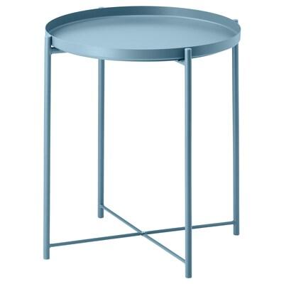 GLADOM Stolek s podnosem, modrá, 45x53 cm