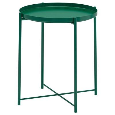 GLADOM Stolek s podnosem, zelená, 45x53 cm