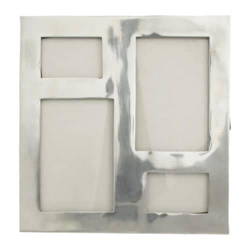 GLANA Kolážový rámeček na 4 fotky, hliník Šířka: 26 cm Výška: 25 cm