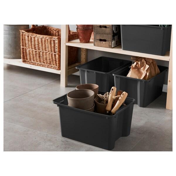 GLES Krabice, černá, 28x38x20 cm