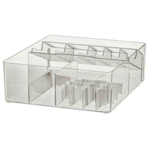 GODMORGON krabice s přihrádkami kouřová 32 cm 28 cm 10 cm