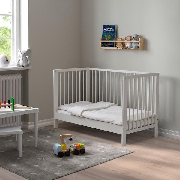 GULLIVER Dětská postýlka, bílá, 60x120 cm