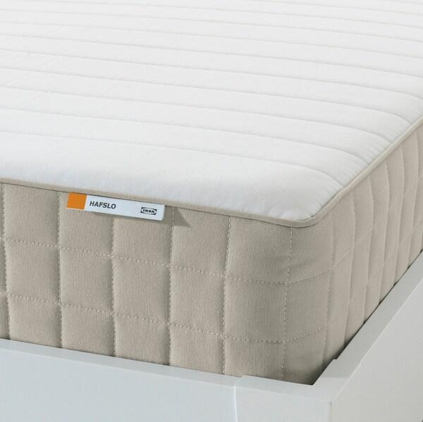 HAFSLO Pružinová matrace, velmi tvrdá/béžová, 140x200 cm