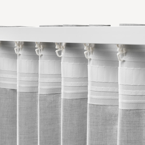 HANNALILL Závěsy, 1 pár, šedá, 145x300 cm