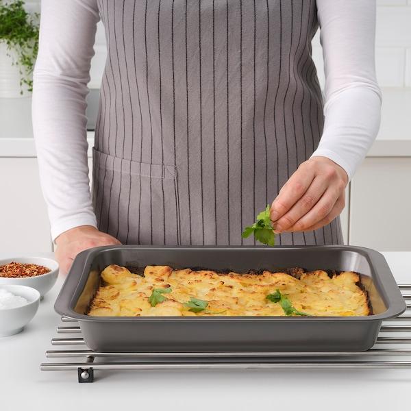 HEMMABAK Forma na pečení, šedá, 36x27 cm
