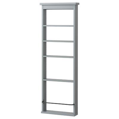 HEMNES Nástěnná police, šedá, 42x118 cm