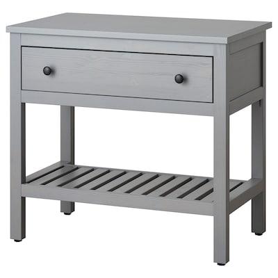 HEMNES Otevřená umyv. skříňka s 1 zásuvkou, šedá, 82x48x76 cm