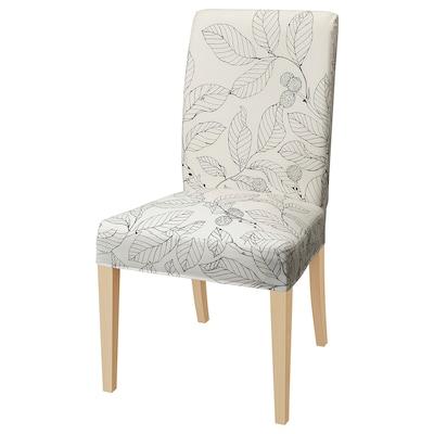 HENRIKSDAL židle bříza/Vislanda černá/bílá 110 kg 51 cm 58 cm 97 cm 51 cm 42 cm 47 cm