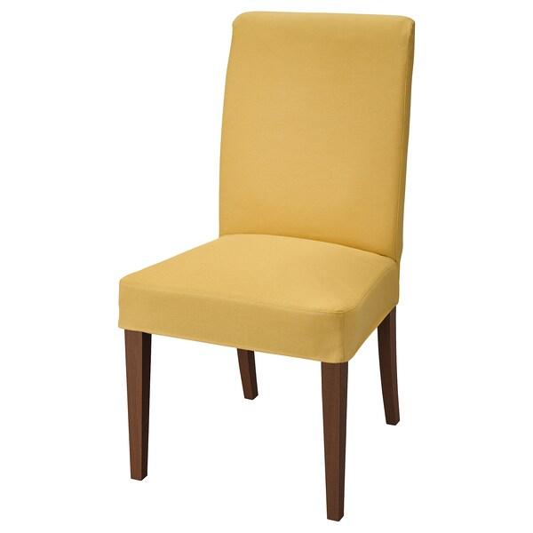 HENRIKSDAL židle hnědá/Orrsta zlatožlutá 110 kg 51 cm 58 cm 97 cm 51 cm 42 cm 47 cm